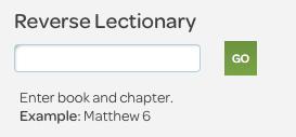 nrsv reverse lectionary