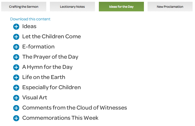 preaching page ideas for the day tab