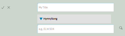 insert hymn/song element